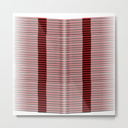 Black and red lines background Metal Print