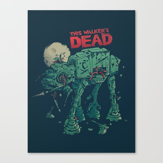 Walker's Dead Canvas Print