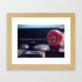 Tiny Robo Framed Art Print