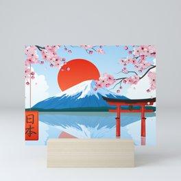 Japanese Landscape Illustration Mini Art Print