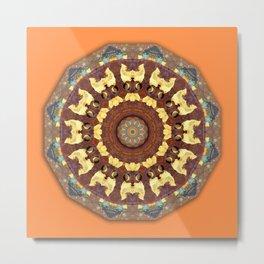 Colors of Rust / mandala-style-rust Metal Print