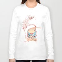 airplanes Long Sleeve T-shirts featuring Hero by Nayoun Kim