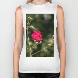 Lovely red rose on bokeh background Biker Tank