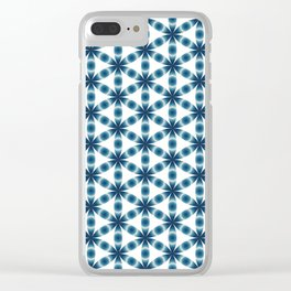 Blue seed of life pattern Clear iPhone Case