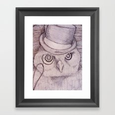Professor Owl Framed Art Print