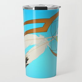 dreamcatcher blue Travel Mug