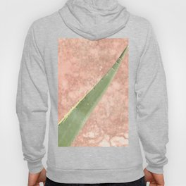 Weathered pink wall and cactus Hoody