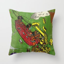 Super Monorails in the Alps of My Mind Throw Pillow