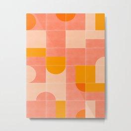 Retro Tiles 03 Metal Print