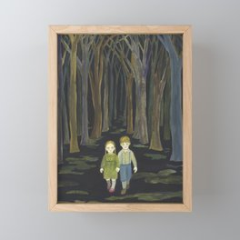 Lost in the Forest Framed Mini Art Print
