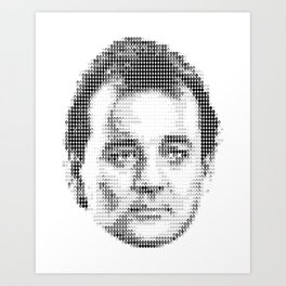 Bill Murray Groundhog Day Meta Portrait  Art Print