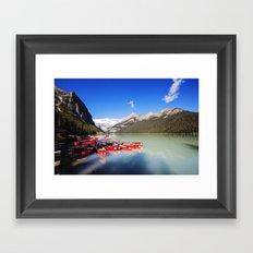 Lake Louise in Alberta, Canada Framed Art Print