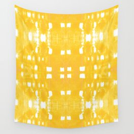 Shibori City Yellow Wall Tapestry