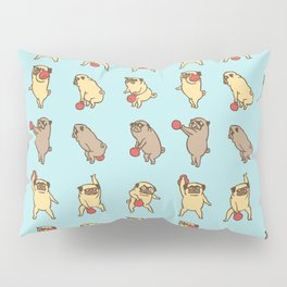 Kettlebell workout with the pug Pillow Sham