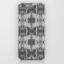 B&W Open Your Eyes Patterned Image iPhone Case