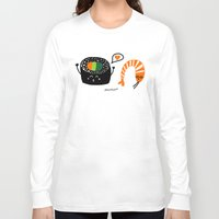 sushi Long Sleeve T-shirts featuring sushi by Sucoco