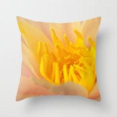 pinky yellow centre Throw Pillow