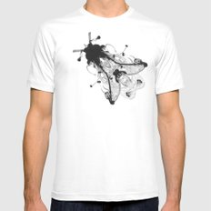 Fly  White Mens Fitted Tee MEDIUM