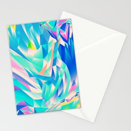 3D Waves Stationery Cards