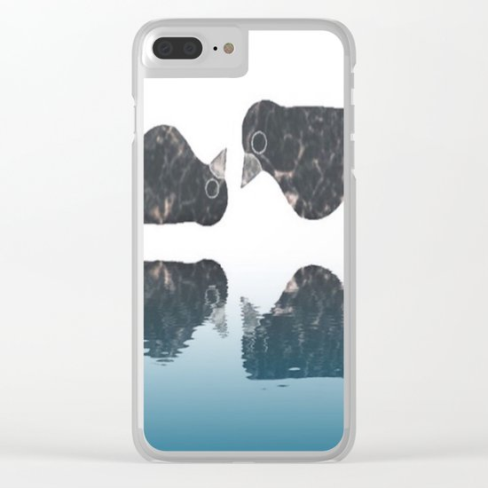 crow-182 Clear iPhone Case