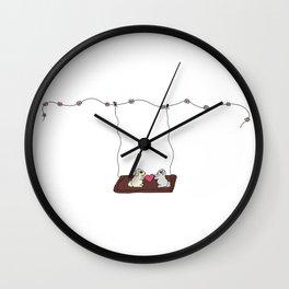Lovers on Swing Wall Clock