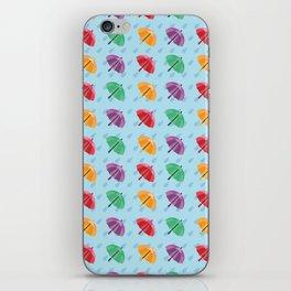 Colorful Rain Umbrella - Pattern iPhone Skin