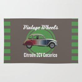 Vintage Wheels - Citroën 2CV Cocorico Rug