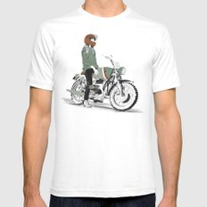 The Woman Rider MEDIUM Mens Fitted Tee White
