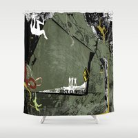 climbing Shower Curtains featuring Rock Climbing by Robin Curtiss