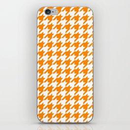 Orange: Houndstooth Checkered Pattern iPhone Skin