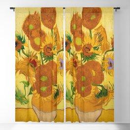 Sunflowers by Van Gogh Blackout Curtain