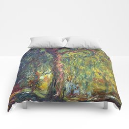 1918-Claude Monet-Weeping Willow-99 x 120 Comforters