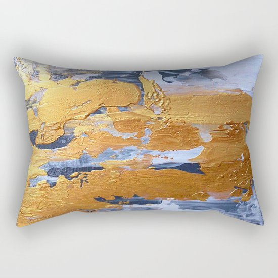 Gold in the ice Rectangular Pillow