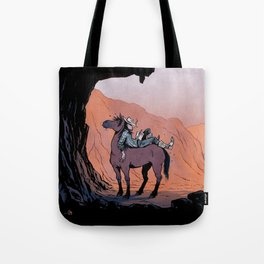 Reading Cowboy Tote Bag