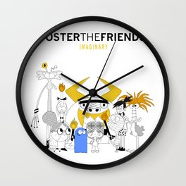 Foster the Friends Wall Clock