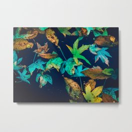 Blue Leaves Metal Print