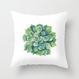 November Succulents Throw Pillow