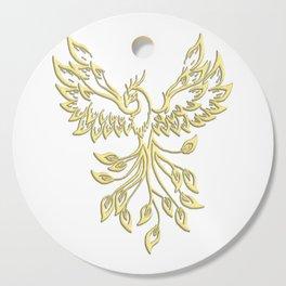 Golden Phoenix Rising Cutting Board