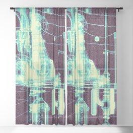 RF295 Town - X55 Sheer Curtain