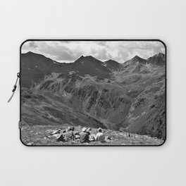 zwölferkopf hiking break view alps serfaus fiss ladis tyrol austria europe black white Laptop Sleeve