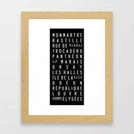 Paris Sign Style Framed Art Print