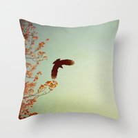 wings Throw Pillows featuring Wings by Alicia Bock
