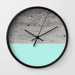 Bright Mint on Concrete #1 #decor #art #society6 Wall Clock