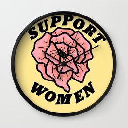 Support Women Wall Clock
