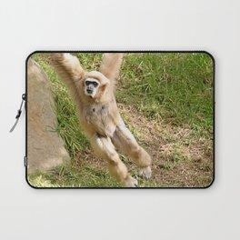White Handed Gibbon Laptop Sleeve