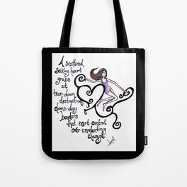 Scattered Hearts Tote Bag