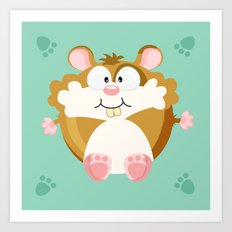 Hamster from the circle series Art Print