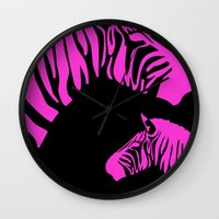 code Wall Clocks featuring Zebra Code by nessieness