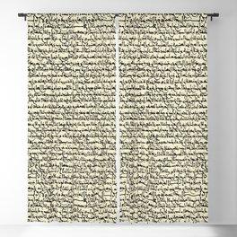 Ancient Arabic // Parchment Yellow Blackout Curtain