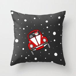Santas Sleigh Is In The Shop Throw Pillow